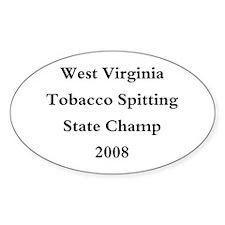 08 WVA Tob Spit Champ Oval Decal
