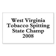 08 WVA Tob Spit Champ Rectangle Decal