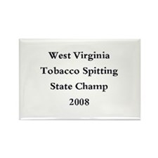 08 WVA Tob Spit Champ Rectangle Magnet