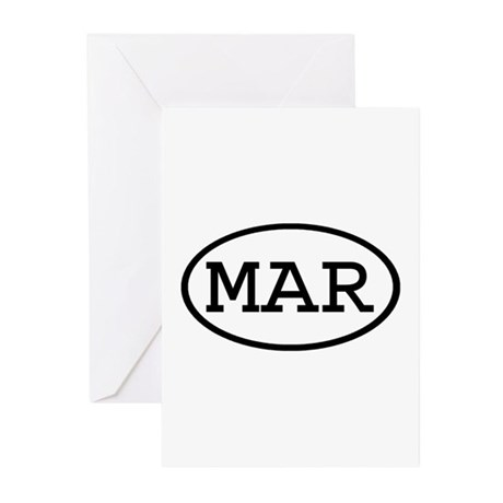 MAR Oval Greeting Cards (Pk of 20)