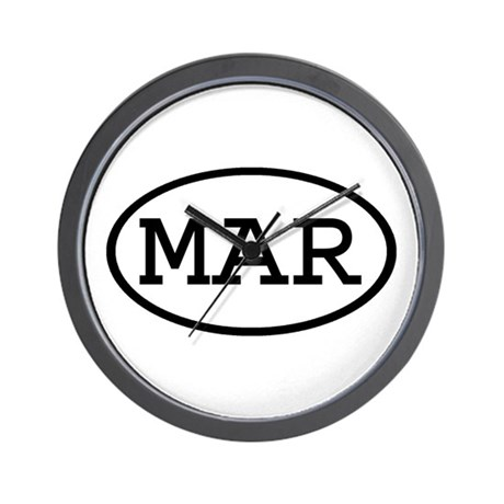 MAR Oval Wall Clock