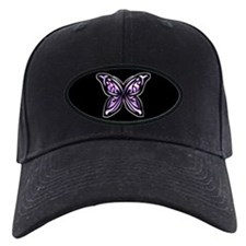Purple Chrome Butterfly Baseball Hat