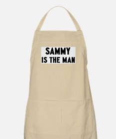 Sammy is the man BBQ Apron