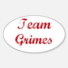 TEAM Grimes REUNION Oval Decal