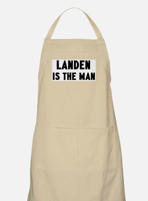 Landen is the man BBQ Apron