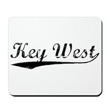 Vintage Key West (Black) Mousepad