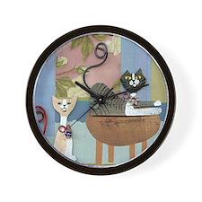 Swanky Inside Cats Wall Clock