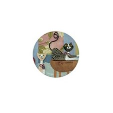 Swanky Inside Cats Mini Button