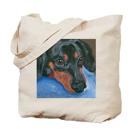 Waiting Dachshund Tote Bag