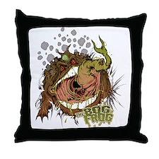 Bog Frog Throw Pillow