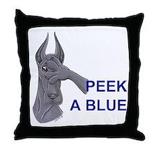 C Peekablue Great Dane Throw Pillow