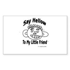 """""""Say Hellow To My Little Friend"""" Cartoon Decal"""