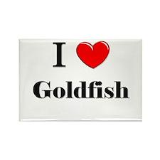 I Love Goldfish Rectangle Magnet