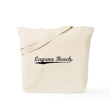 Vintage Laguna Beach (Black) Tote Bag