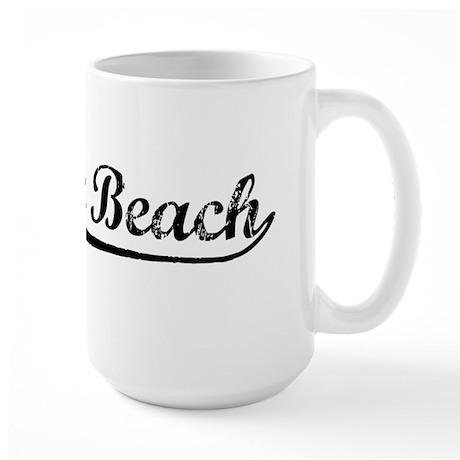 Vintage Laguna Beach (Black) Large Mug