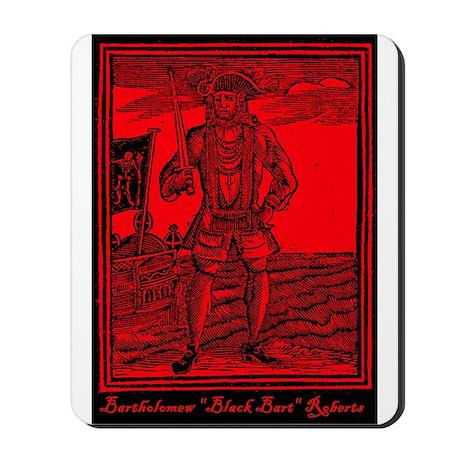 Black Bart Roberts Pirate Mousepad