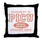 Property Of PICU Nurse Throw Pillow