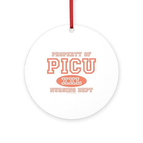 Property Of PICU Nurse Ornament (Round)