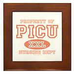 Property Of PICU Nurse Framed Tile