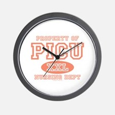 Property Of PICU Nurse Wall Clock