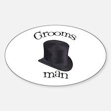 Top Hat Groomsman Oval Decal