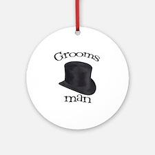 Top Hat Groomsman Ornament (Round)