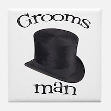 Top Hat Groomsman Tile Coaster