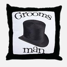 Top Hat Groomsman Throw Pillow