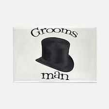 Top Hat Groomsman Rectangle Magnet