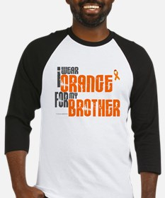 I Wear Orange For My Brother 6 Baseball Jersey
