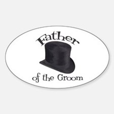 Top Hat Groom's Father Oval Decal