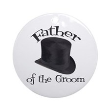 Top Hat Groom's Father Ornament (Round)