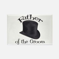 Top Hat Groom's Father Rectangle Magnet