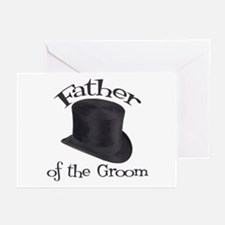 Top Hat Groom's Father Greeting Cards (Pk of 10)