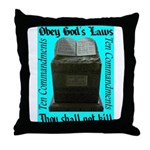 10 Commandments Throw Pillow