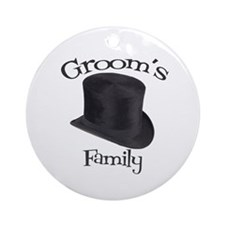 Top Hat Groom's Family Ornament (Round)