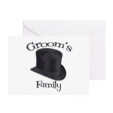 Top Hat Groom's Family Greeting Cards (Pk of 10)
