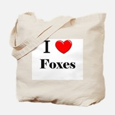 I Love Foxes Tote Bag