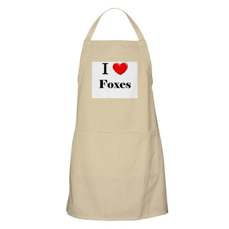 I Love Foxes BBQ Apron