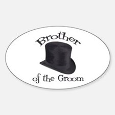 Top Hat Groom's Brother Oval Decal