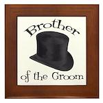 Top Hat Groom's Brother Framed Tile