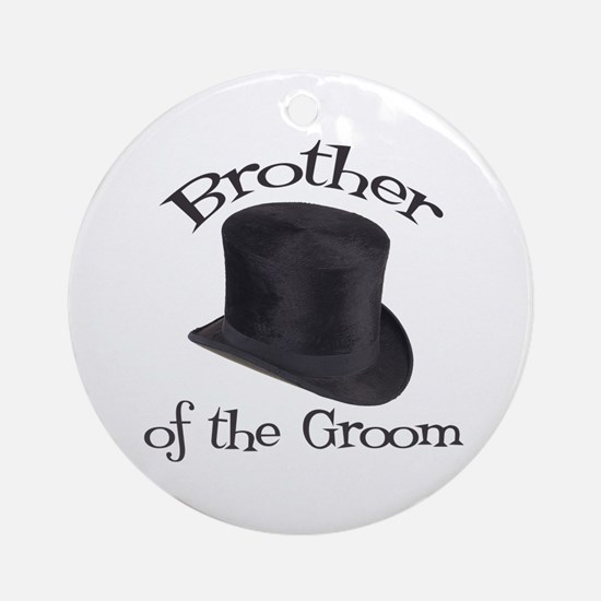 Top Hat Groom's Brother Ornament (Round)