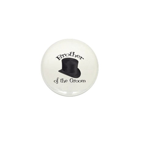 Top Hat Groom's Brother Mini Button