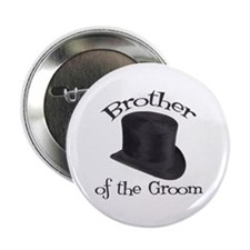 "Top Hat Groom's Brother 2.25"" Button"