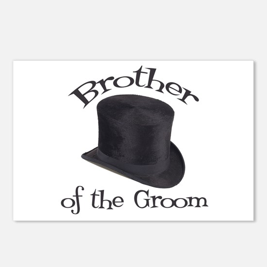 Top Hat Groom's Brother Postcards (Package of 8)
