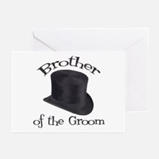 Top Hat Groom's Brother Greeting Cards (Pk of 10)