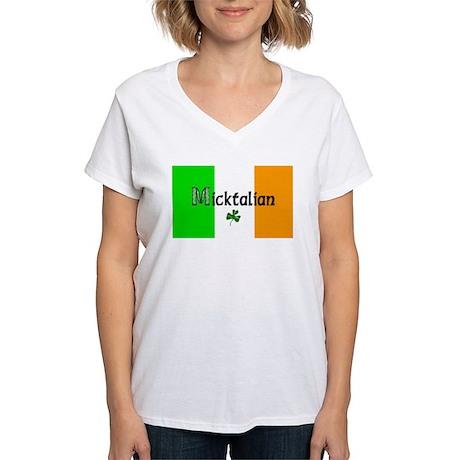 Micktalian Women's V-Neck T-Shirt
