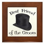 Top Hat Groom's Best Friend Framed Tile