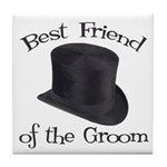 Top Hat Groom's Best Friend Tile Coaster