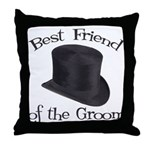 Top Hat Groom's Best Friend Throw Pillow